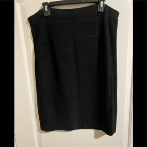 INC black bandage pencil skirt